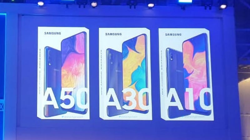 samsung galaxy a10 a30 a50 leaked image twitter ishan aggarwal Samsung Galaxy A10