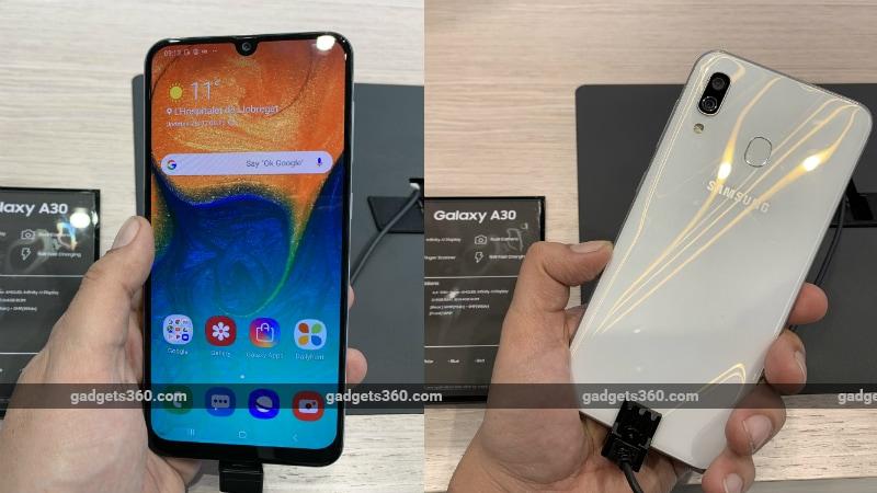 Samsung Galaxy A50, Galaxy A30 और Galaxy A10 लॉन्च हुए भारत में, कीमत 8,490 रुपये से शुरू