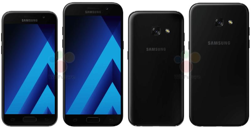 samsung galaxy a3 a5 2017 render Galaxy A3  Galaxy A5