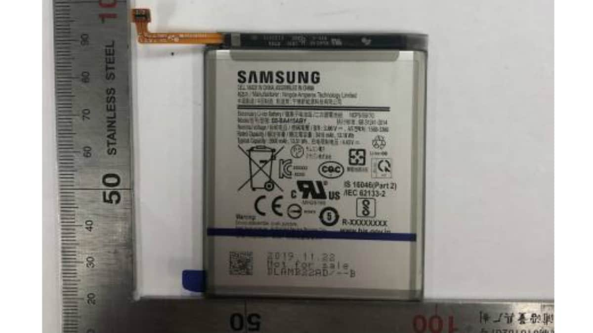 samsung galaxy a41 battery image safety korea Samsung Galaxy A41  Samsung