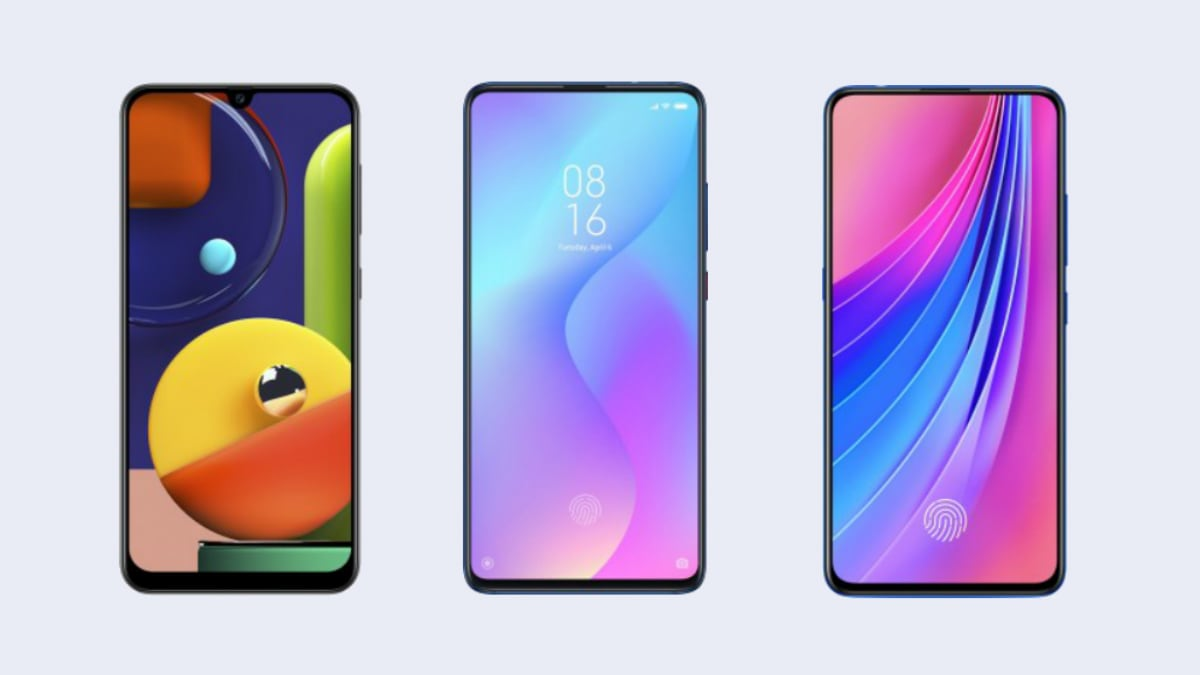 Samsung Galaxy A50s vs Redmi K20 vs Vivo V15 Pro: Price in India, Specifications Compared