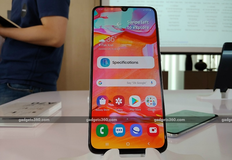 Samsung Galaxy A70 With 20:9 Display, Triple Rear Cameras Launched in India: Price, Specifications