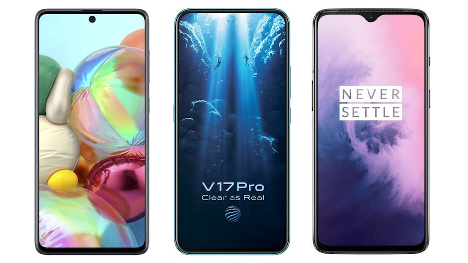 Samsung Galaxy A71 vs Vivo V17 Pro vs OnePlus 7: Check Price, Specifications, Ratings
