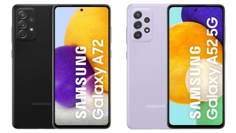 Samsung Galaxy A72, Samsung Galaxy A52 Marketing Material Tips Colour Options, Specifications, Differences