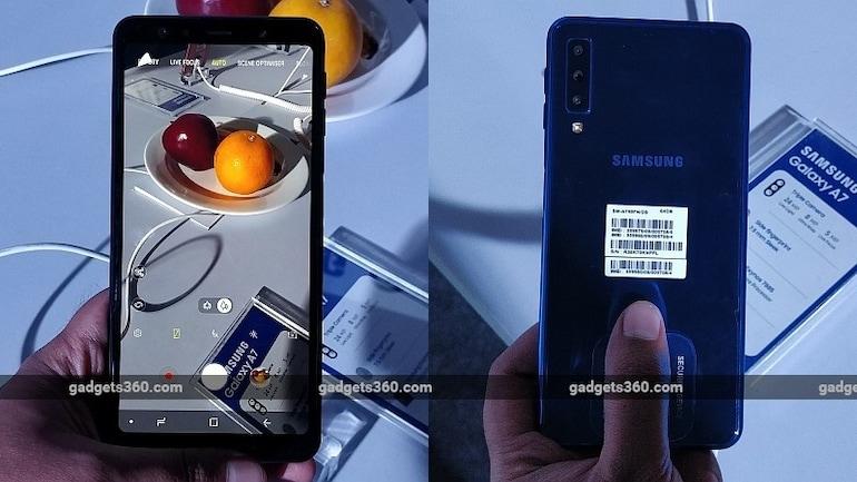 Samsung Galaxy A7 (2018) की बिक्री आज से, तीन रियर कैमरे हैं इसकी खासियत