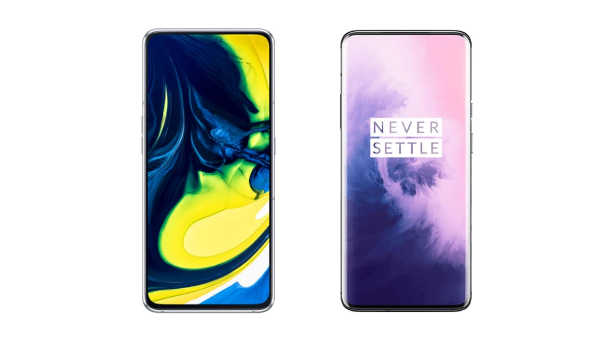 Samsung Galaxy A80 vs OnePlus 7 Pro: Price in India, Specifications Compared