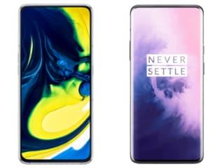 Samsung Galaxy A80 और OnePlus 7 Pro में कौन बेहतर?