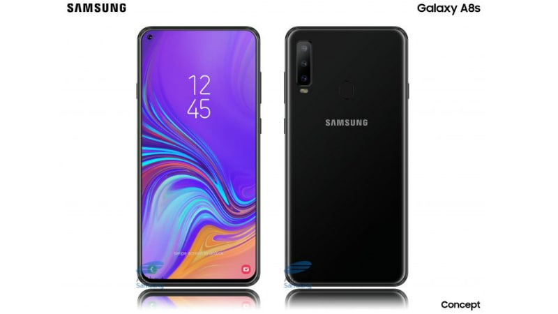 Samsung Galaxy A8s Alleged Renders Show Infinity-O Display With Selfie Camera Cutout