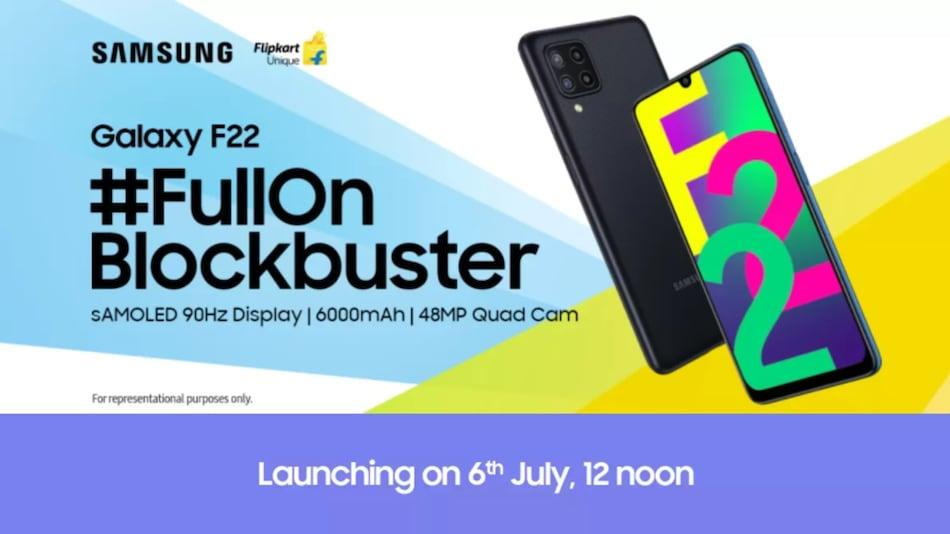 6,000mAh बैटरी के साथ 6 जुलाई को भारत में लॉन्च होगा Samsung Galaxy F22 फोन