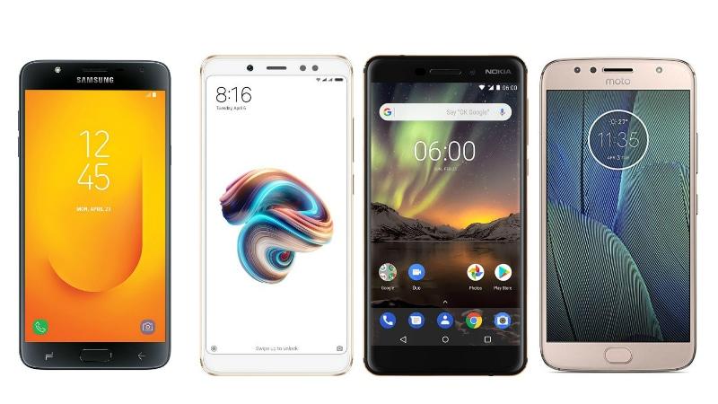 Samsung Galaxy J7 Duo vs Redmi Note 5 Pro vs Nokia 6 (2018) vs Moto