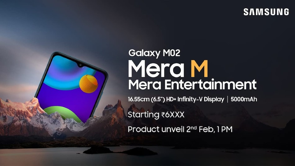 Samsung Galaxy M02 India Launch Date Set for February 2, Priced Under Rs. 7,000