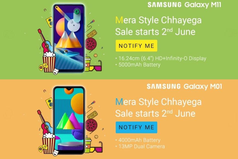 Samsung Galaxy M11, Galaxy M01 Set to Launch in India on June 2, Flipkart Reveals