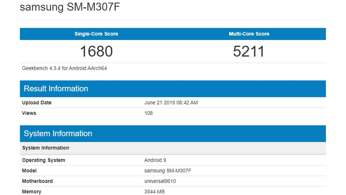 Samsung Galaxy M30 Variant With Exynos 9610 SoC Spotted on Geekbench, Tipped to Debut as Galaxy M30s