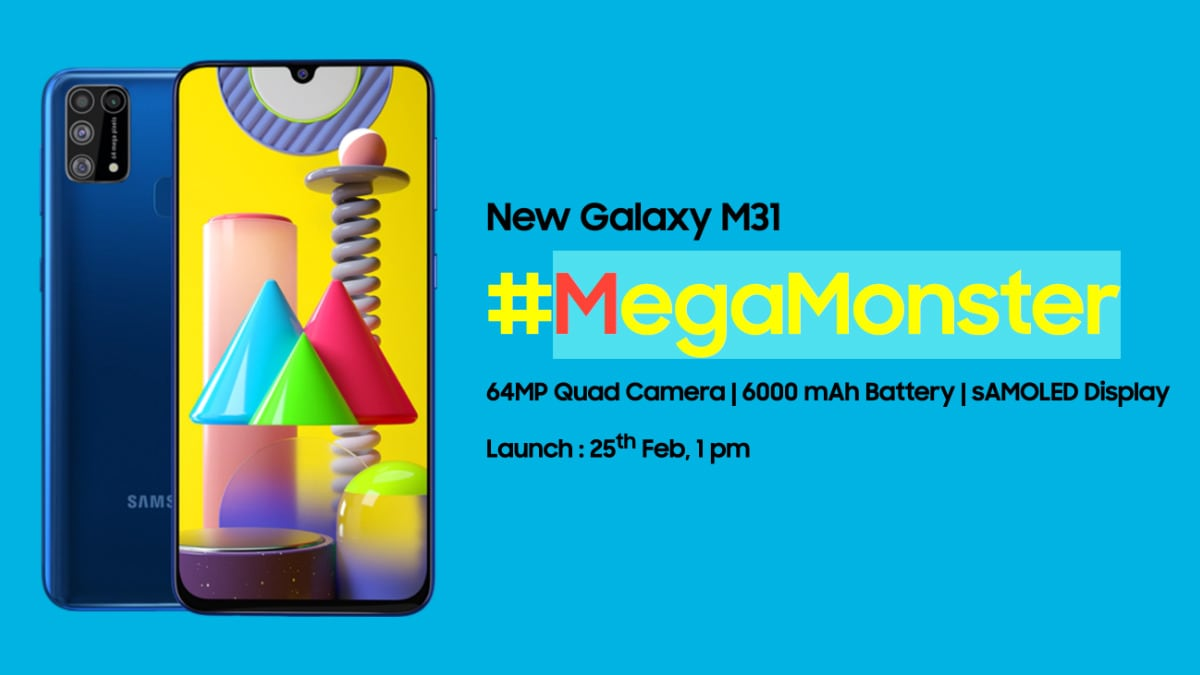 Samsung Galaxy M31 With 6,000mAh Battery Launching in India Today: Expected Price, Specifications, How to Watch Live Stream