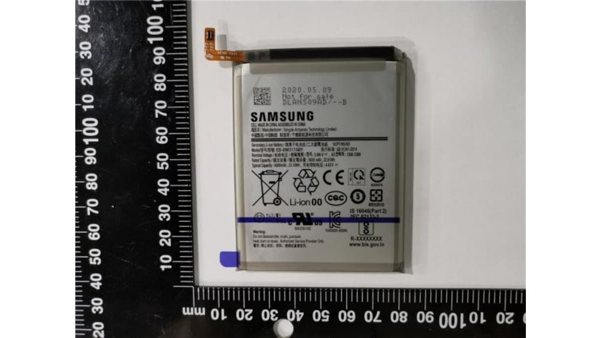 samsung galaxy m31s battery eb bm317aby image safety korea Samsung Galaxy M31s  Samsung