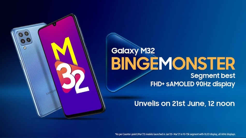 Samsung Galaxy M32 India Launch Date Set for June 21; Price, Specifications Surface Alongside