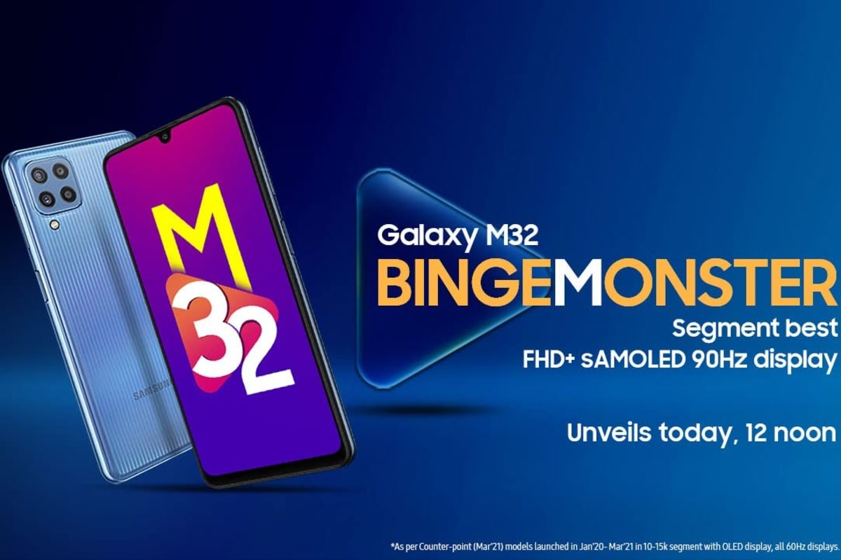 Samsung Galaxy M32 Set to Launch in India Today