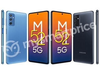 Samsung Galaxy M52 5G's Leaked Renders Show Pinstripe-Style Back Panel, Tipped to Get 120Hz Display
