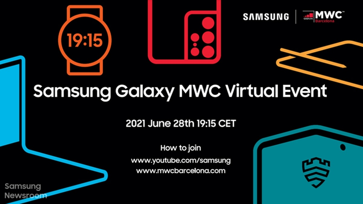 Samsung Teases Launch of New Devices at MWC 2021 Event on June 28
