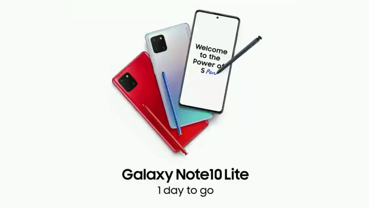 Samsung Galaxy Note 10 Lite to Launch in India Today: Expected Price, Specifications