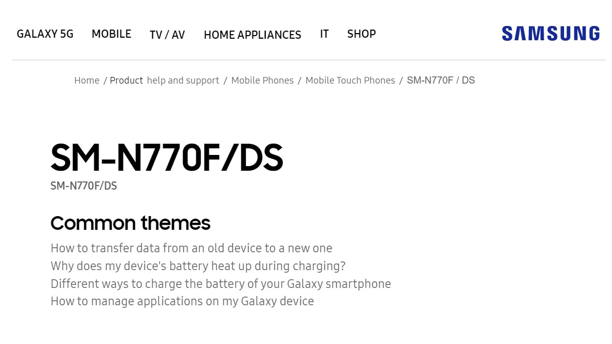 Samsung Galaxy Note 10 Lite Support Page Goes Live on Official Website, Also Gets US FCC Certification