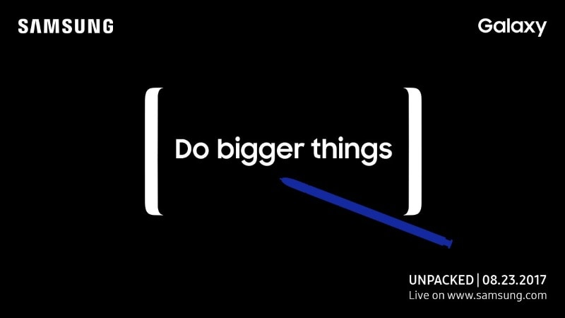 Samsung Galaxy Note 8 Launch Set for August 23 Unpacked Event