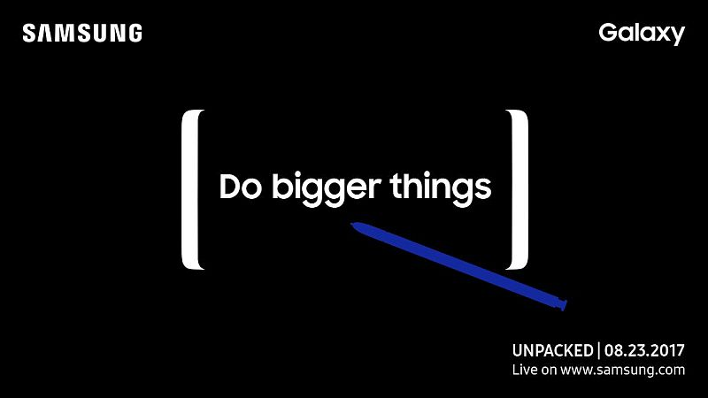 Samsung Galaxy Note 8 Video Teases 'Bigger Things', Specifications and Benchmarks Leak