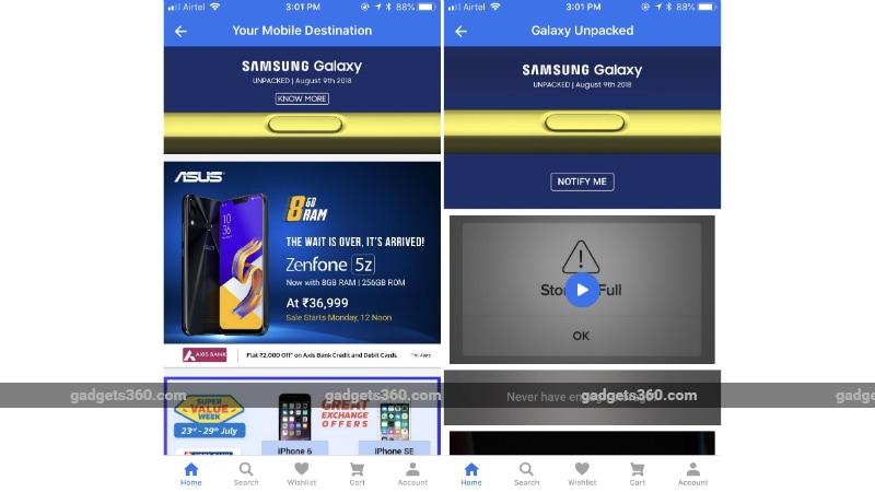 samsung galaxy note 9 flipkart listing gadgets 360 Samsung Galaxy Note 9