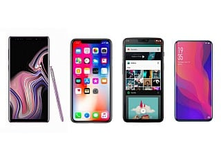 Samsung Galaxy Note 9 vs iPhone X vs OnePlus 6 vs Oppo Find X में कौन बेहतर?