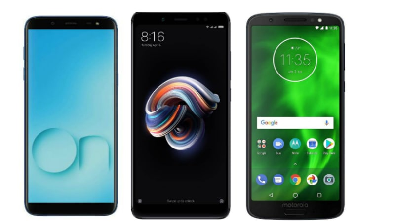 Samsung Galaxy On6 vs Xiaomi Redmi Note 5 Pro vs Moto G6: Price in India, Specifications Compared