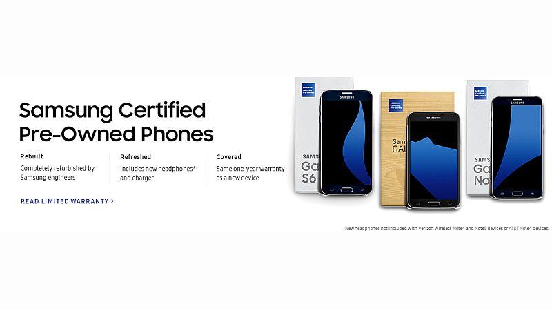 Samsung Starts Selling Refurbished Galaxy Smartphones in US