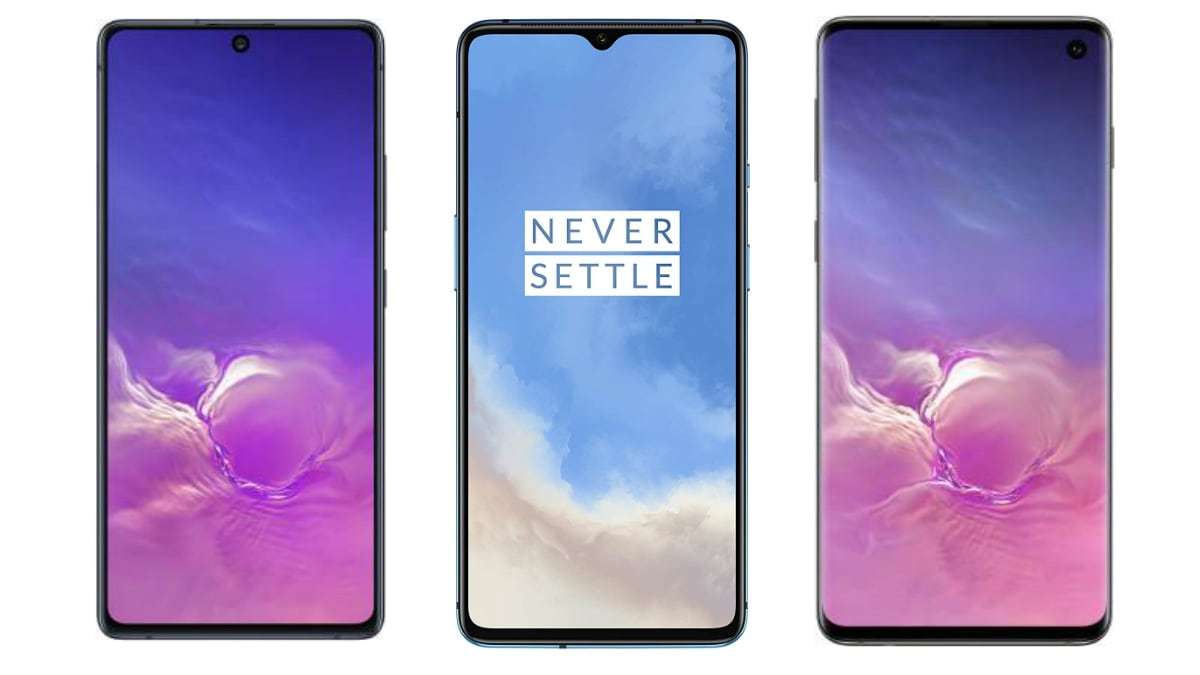 Samsung Galaxy S10 Lite vs OnePlus 7T vs Samsung Galaxy S10: Price in India, Specifications Compared