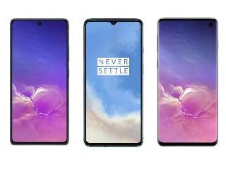 Samsung Galaxy S10 Lite vs OnePlus 7T vs Samsung Galaxy S10