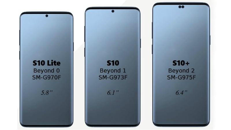 Samsung Galaxy S10 Screen Sizes Leak; Galaxy S10 Lite Emerges With Flat Screen Design