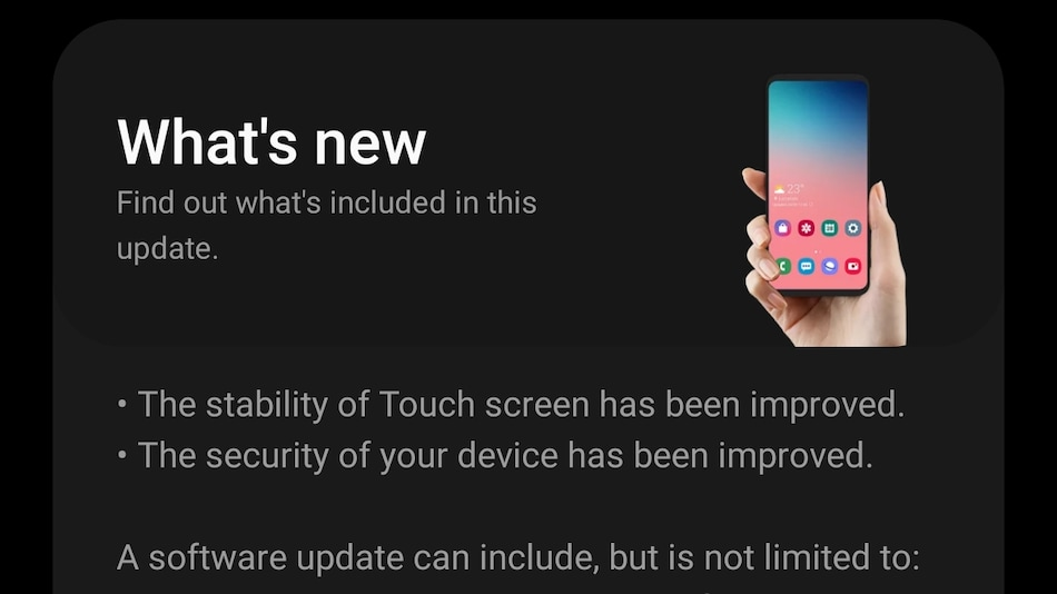 Samsung Galaxy S20 FE Gets New Update With 'Improvements' to Touchscreen Issue