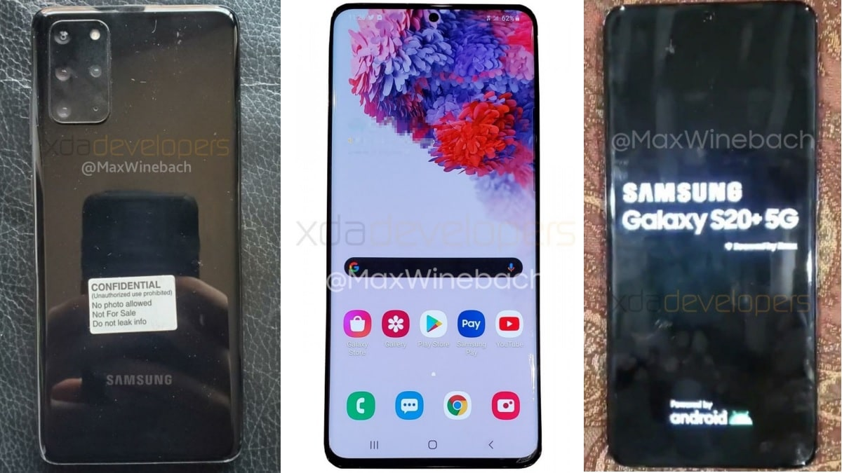 Samsung Galaxy S20+ 5G Live Images Surface Online, Show Quad Rear Cameras and Hole Punch Display
