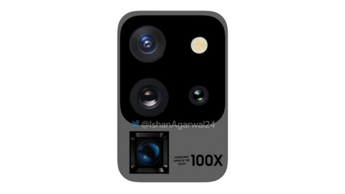 Samsung Galaxy S20 Ultra 5G Camera Module Leak Tips Two-Tone Design, 100x Digital Zoom Capabilities