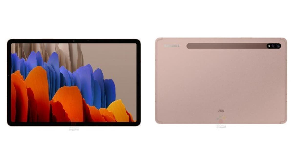 Samsung Galaxy Tab S7, Samsung Galaxy Tab S7+ Specifications and Renders Leaked Ahead of Launch