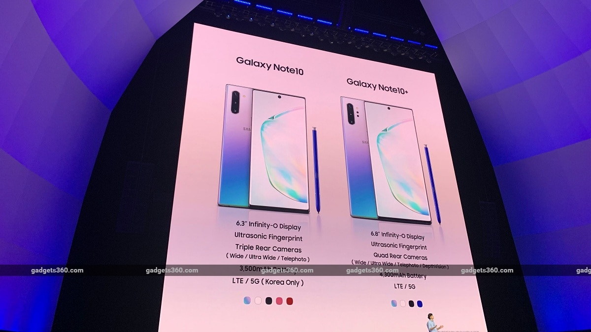 Samsung Galaxy Note 10, Galaxy Note 10+ Price in India Revealed