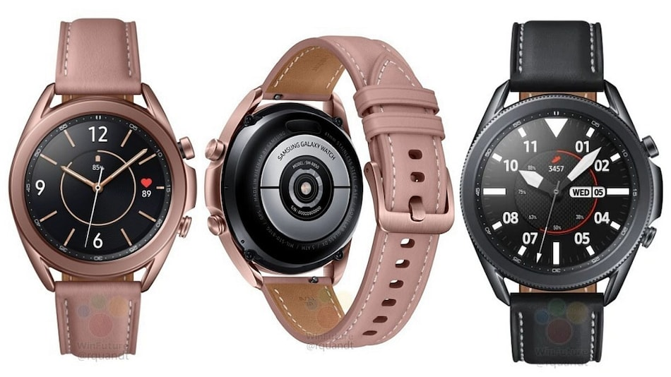 Samsung Galaxy Watch 3 Renders Leaked, Show Off Design and Colour Variants