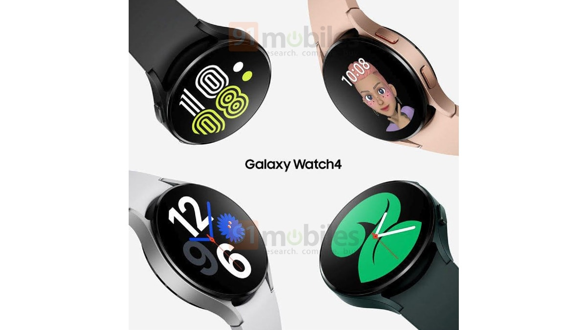 samsung galaxy watch 4 colour options leaked render 91mobiles Samsung Galaxy Watch 4