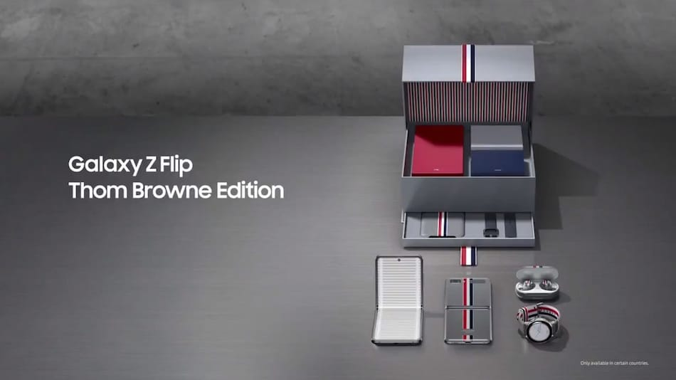 Samsung Galaxy Z Flip Thom Browne Edition Promotional Video Leaked