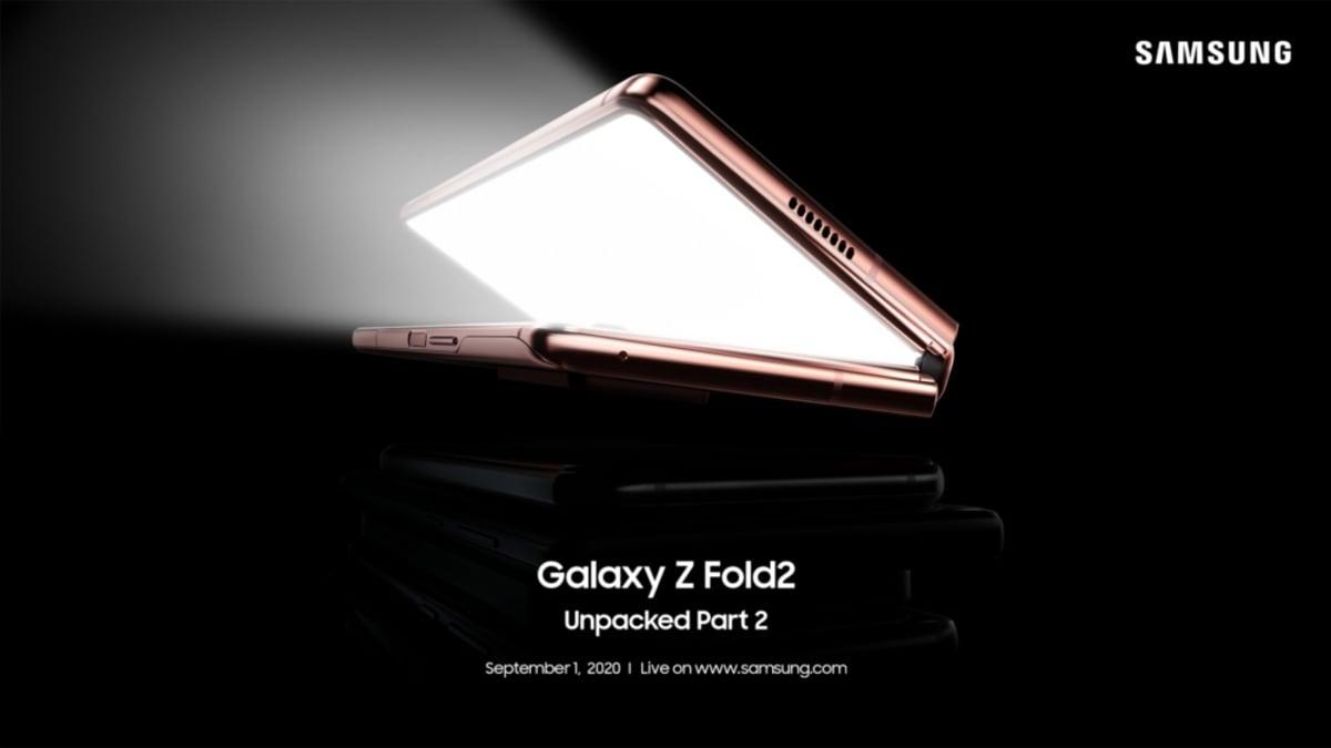 samsung galaxy z fold 2 launch invite image Samsung Galaxy Z Fold 2