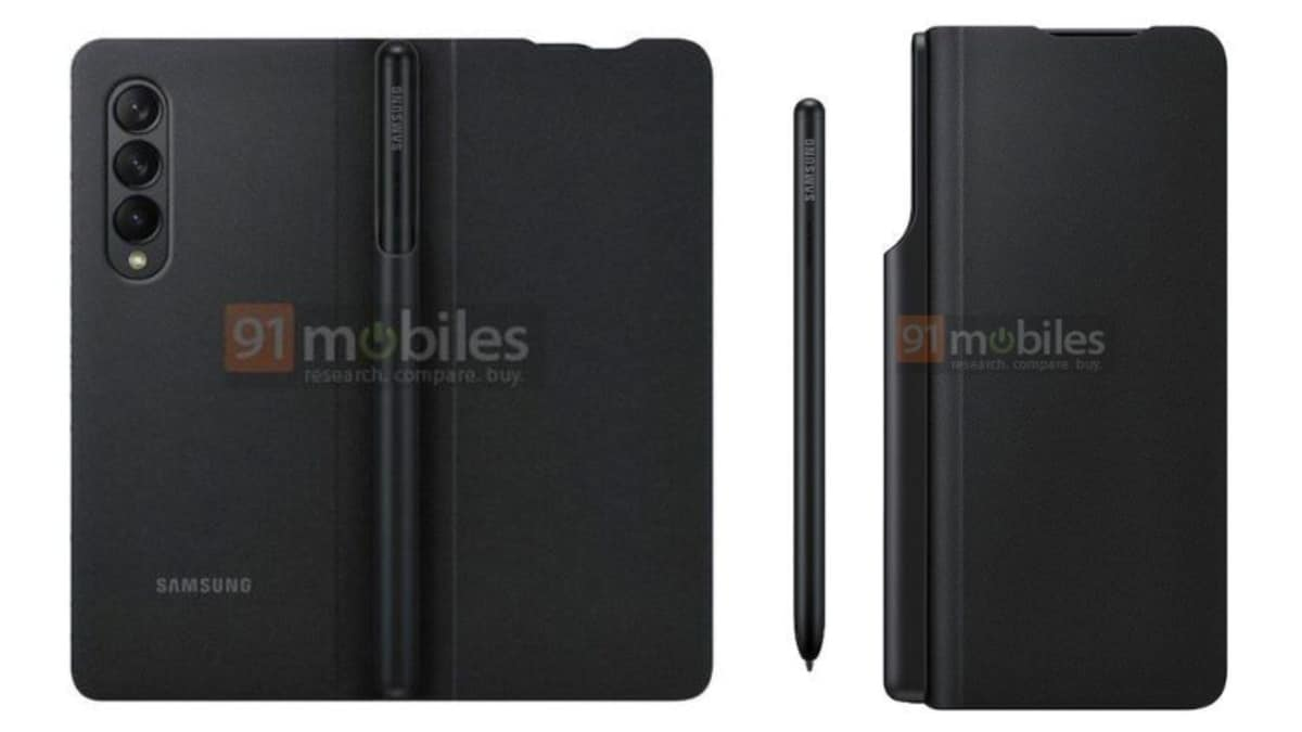 samsung galaxy z fold 3 case images leak 91mobiles Samsung Galaxy Z Fold 3 case  Samsung Galaxy Z Fold 3