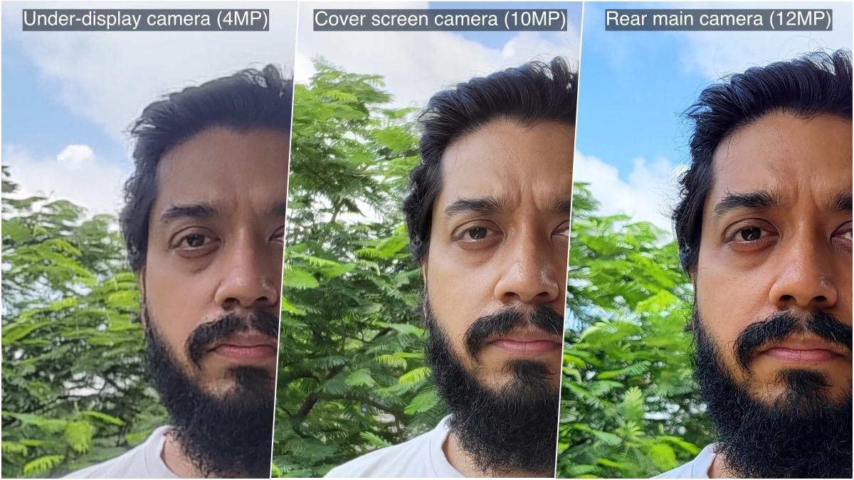 samsung galaxy z fold 3 review selfie comparison gadgets360 www