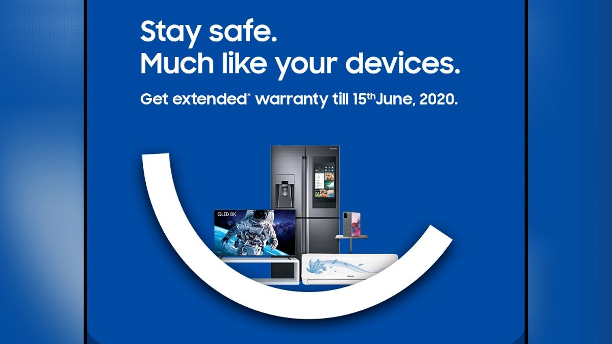 Samsung Extends Warranty on All Products in India Till June 15 Owning to Coronavirus Lockdown