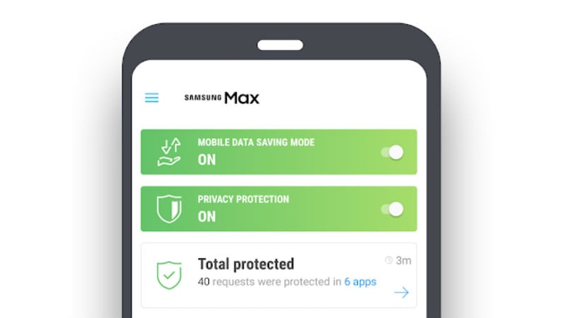 New Samsung Max App Saves data and Protects your Privacy