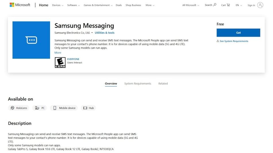 Samsung Messaging App for Windows 10 Spotted, Lets You Send Text Messages via Laptop