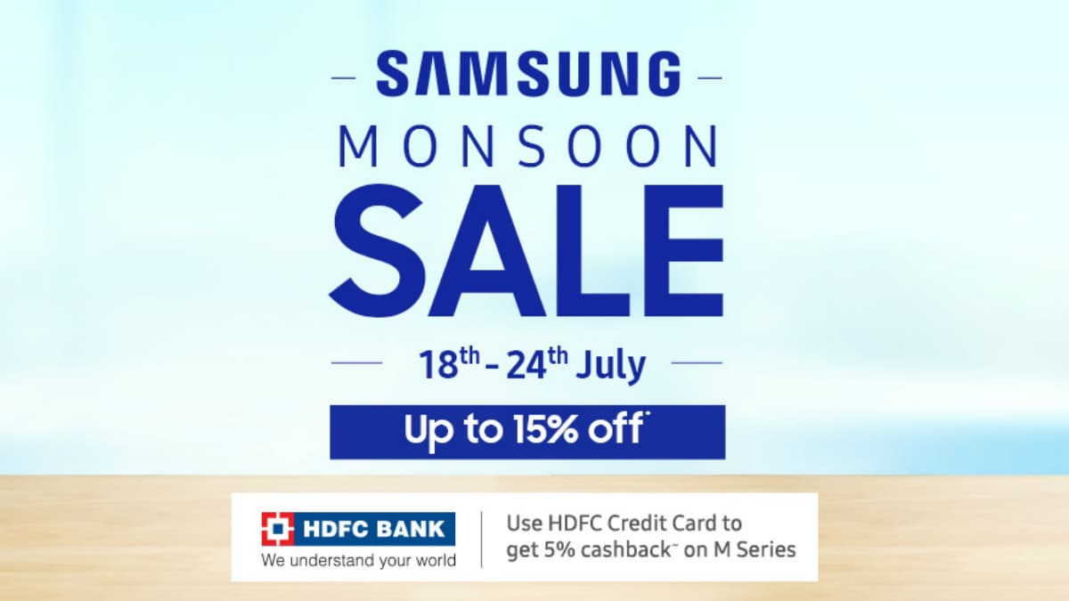 Samsung Monsoon Sale Brings Instant Cashback, Other Offers on Phones, TVs, Audio Products
