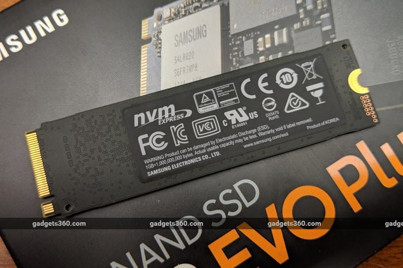 samsung ssd 970 evo plus rear ndtv samsung